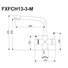Кран-смеситель FXFCH13-3-M_K (3-х позиционный)
