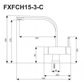 Кран-смеситель FXFCH15-3-C_K (3-х позиционный)